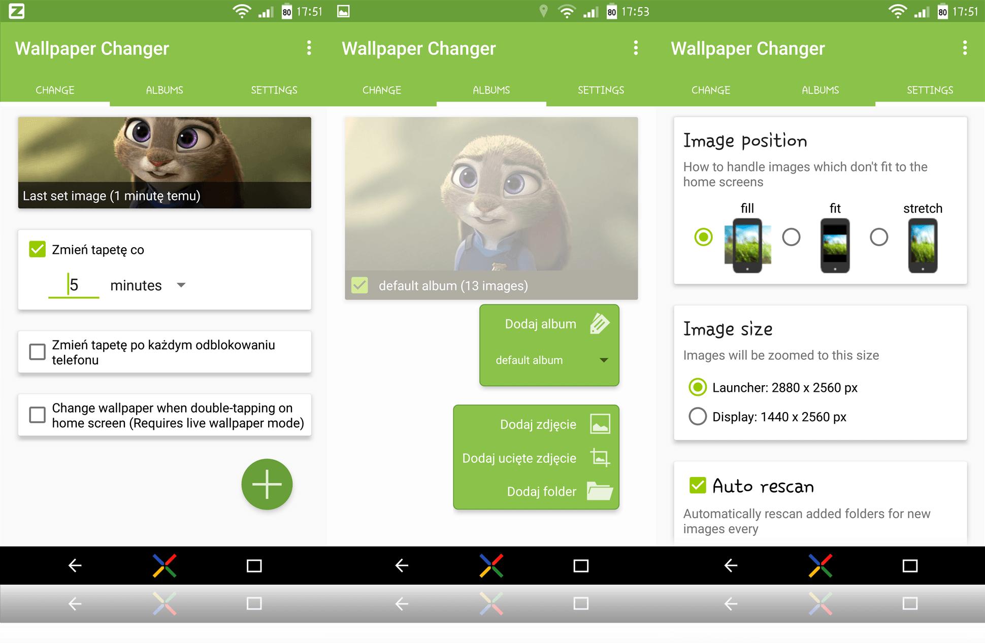 wallpaper Changer 3screens Ustawiamy automatyczną zmianę tapety na telefonie z androidem.