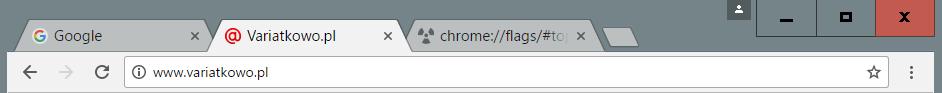 hybrydowy Przywracamy klasyczny wygląd Google Chrome.