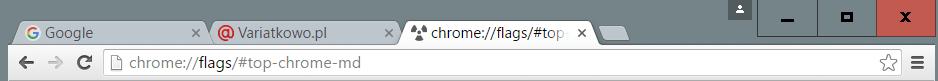 styl inny niz material Przywracamy klasyczny wygląd Google Chrome.