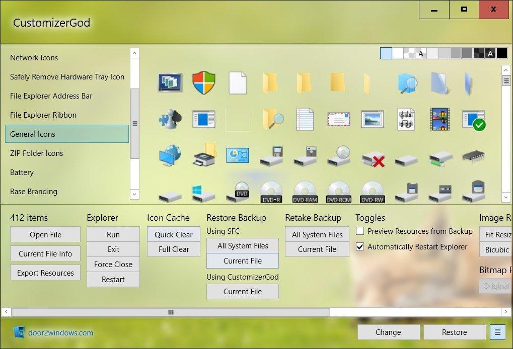 cuztomizergod Najlepsze darmowe aplikacje do personalizacji Windows 10