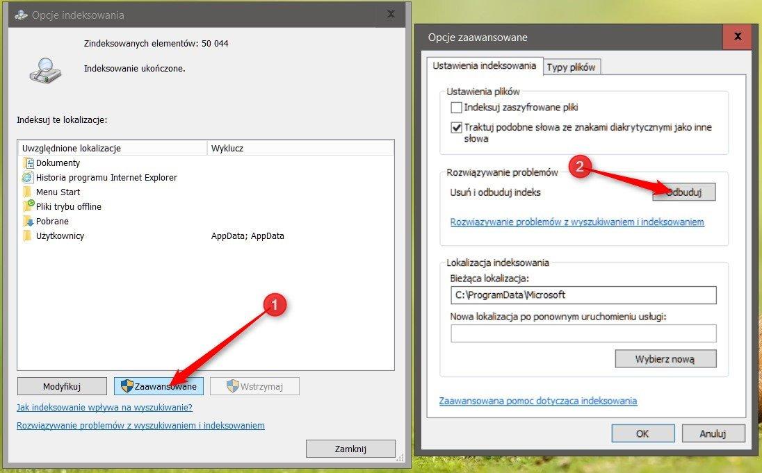 indeks 1 Optymalizujemy indeksowanie plików w systemie Windows